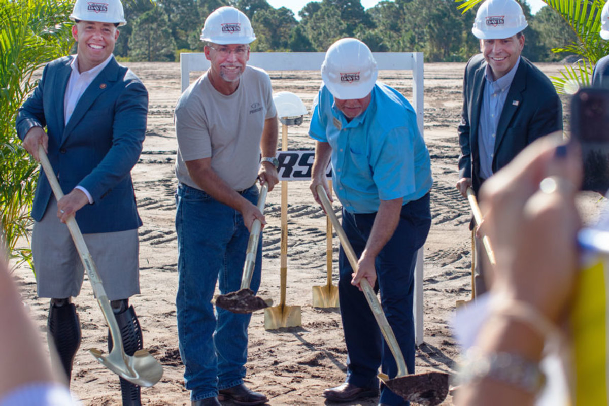 Pursuit officials and county executives break ground for plant expansion