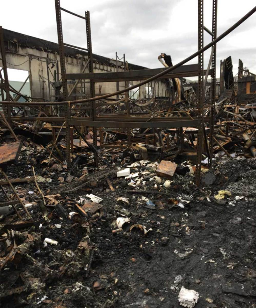 The Blue Sea Systems warehouse was destroyed by a fire Nov. 10.