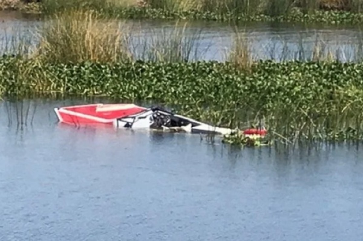 This boat was run over early Saturday evening on the popular California Delta waterway.