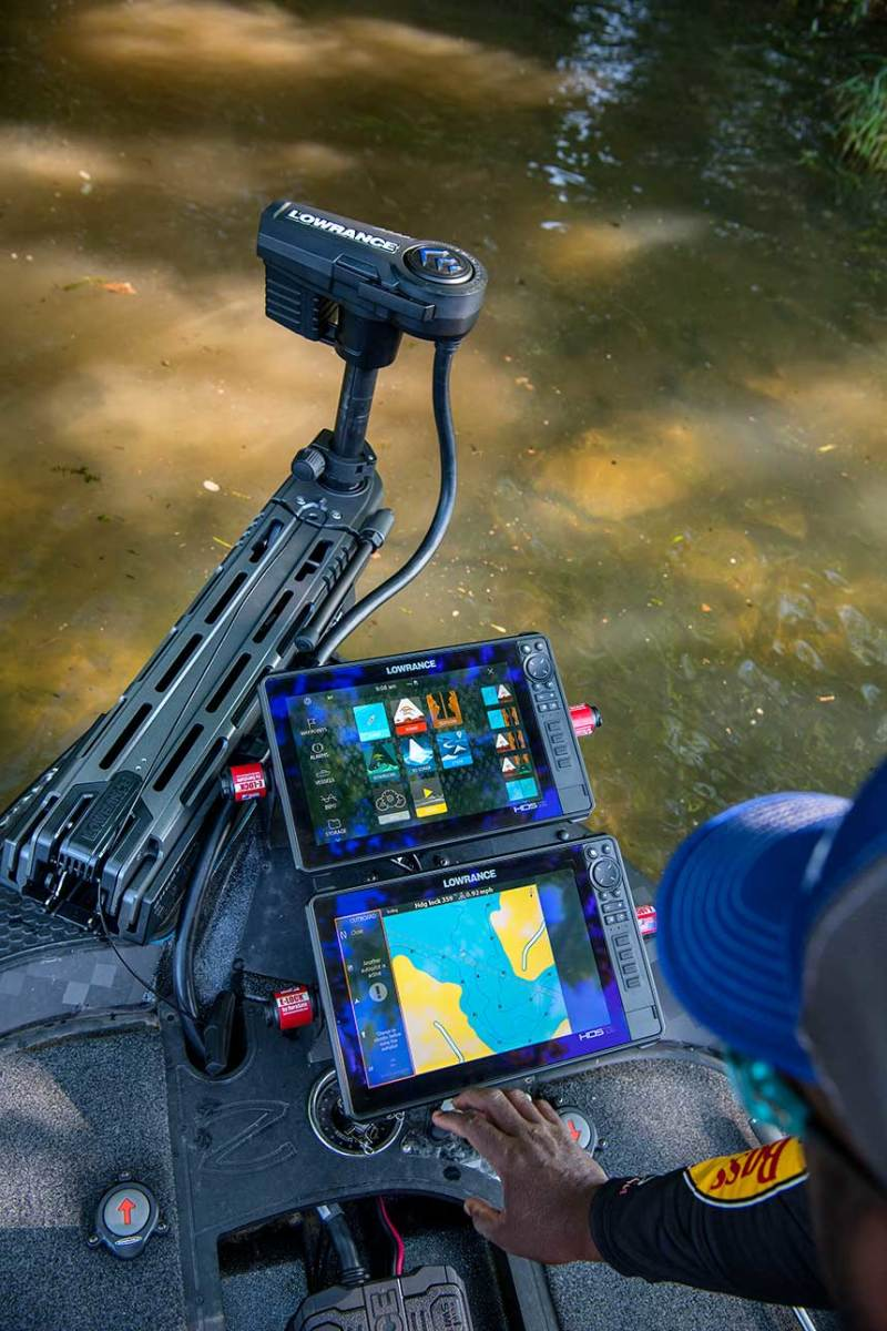 The brushless motor on the Lowrance Ghost generates 25 percent more thrust than competitors' trolling motors.