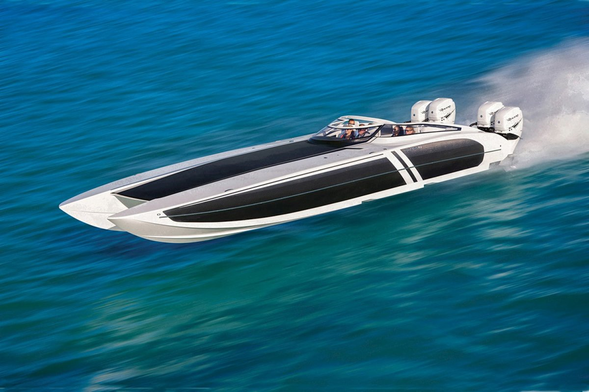 The all-carbon Donzi 44 Icon is one of the boats that will be available for test drives.