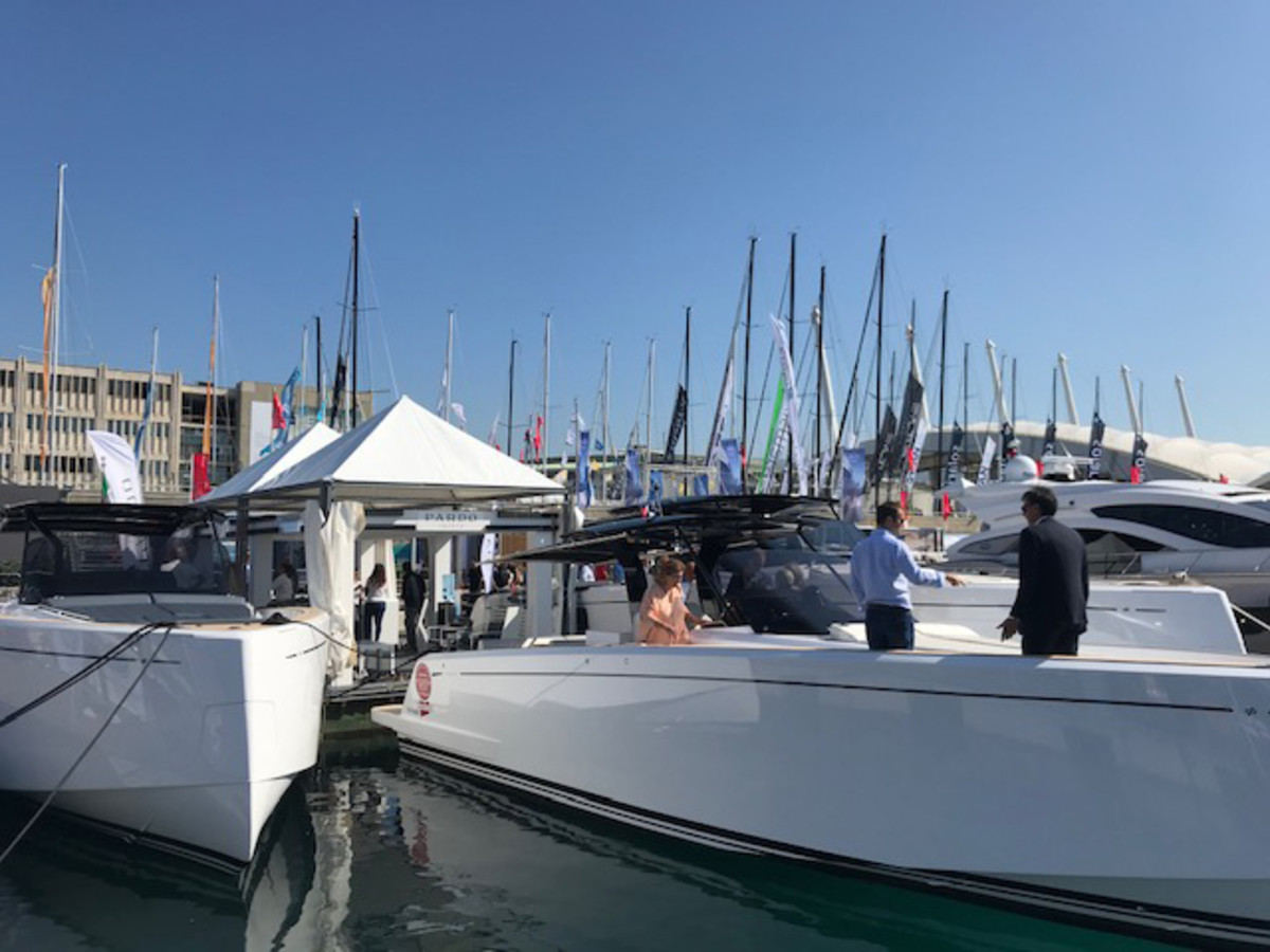 It was a strong year for both the Genoa Boat show and Italy's boatbuilding industry. Credit: Peter Nielsen