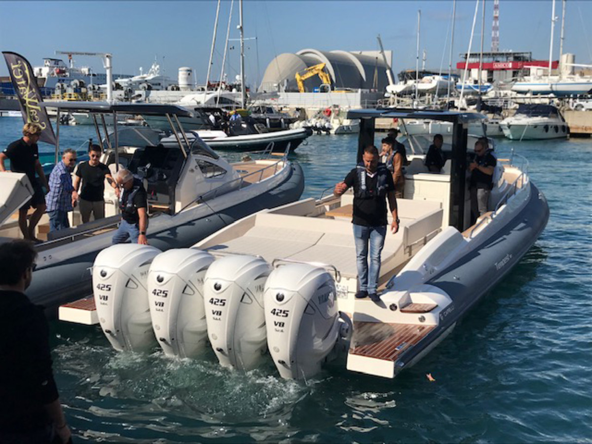 There were a record number of boats at this year's show. Credit Peter Nielsen
