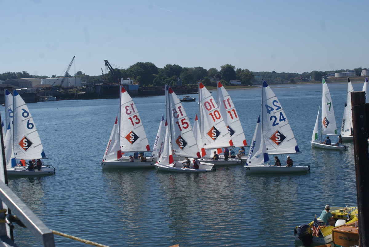SailMaine held races throughout the day on Sunday.