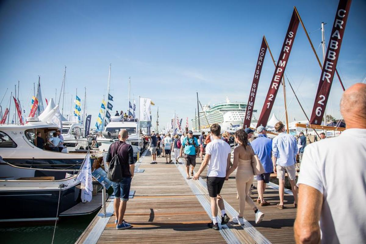 The Southampton Boat Show drew strong crowds.