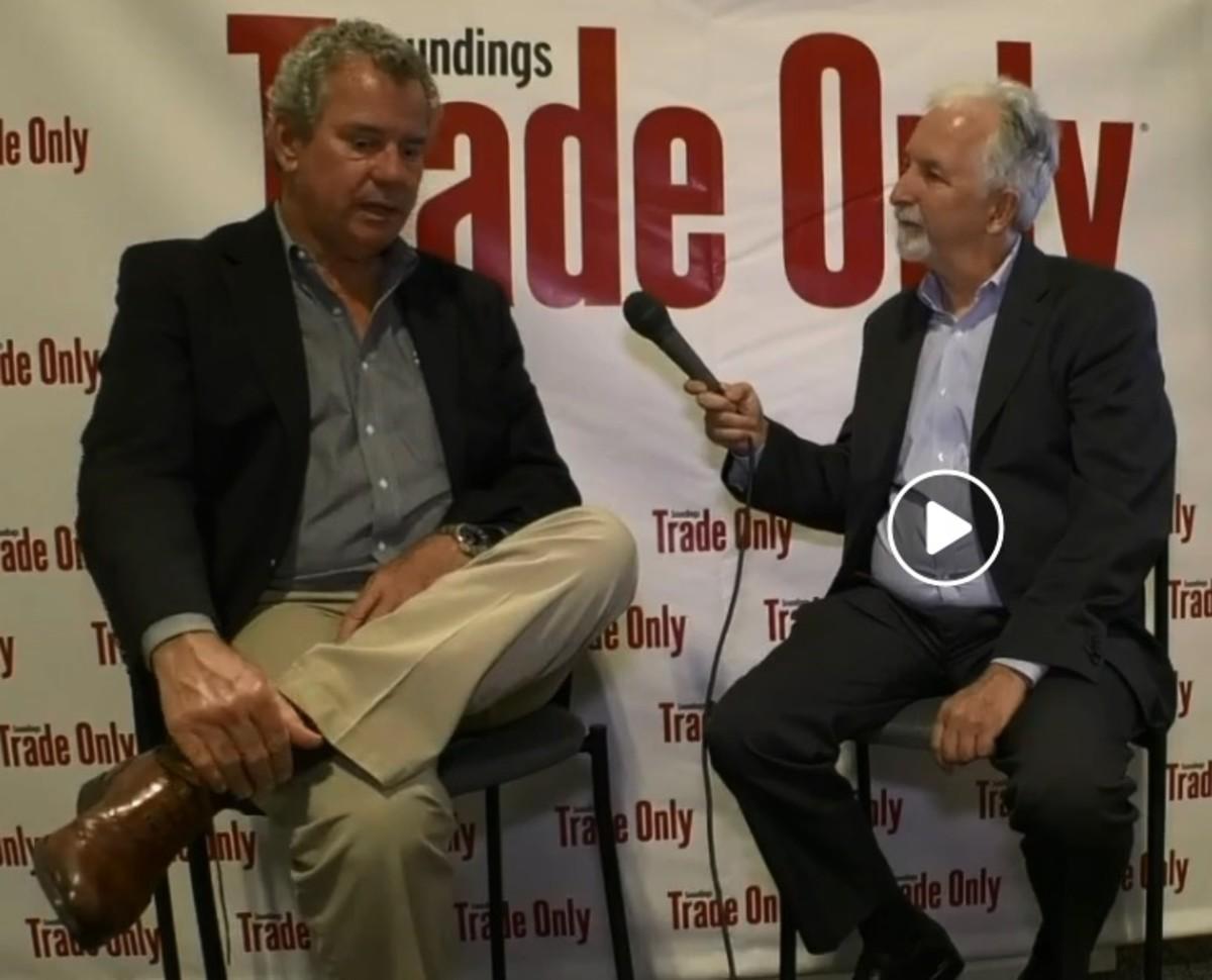 Michael Verdon (right) interviews Scott Deal, founder ofMaverick Boat Group