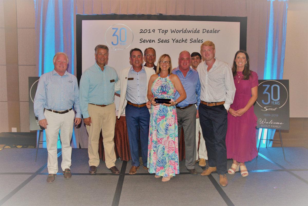 Seven Seas Yacht Sales was Scout's top dealer worldwide.