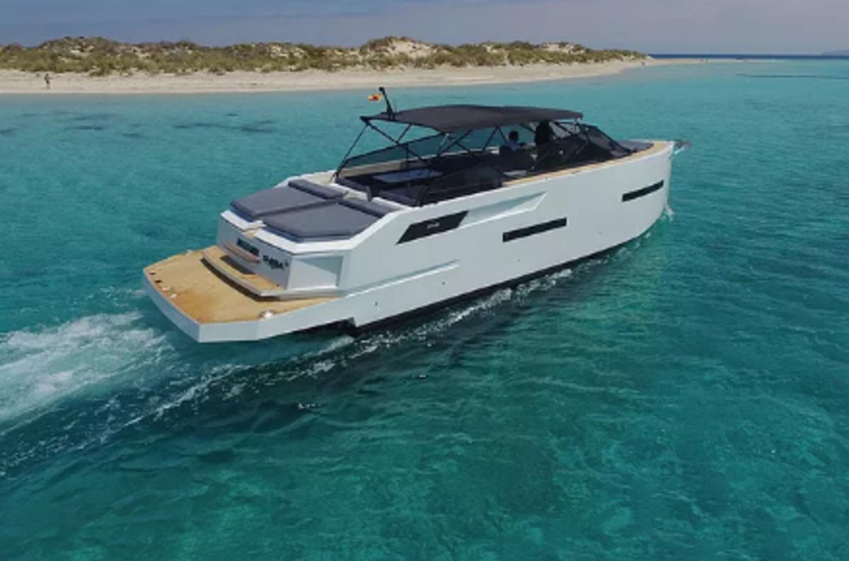 De Antonio Yachts have modern European styling.