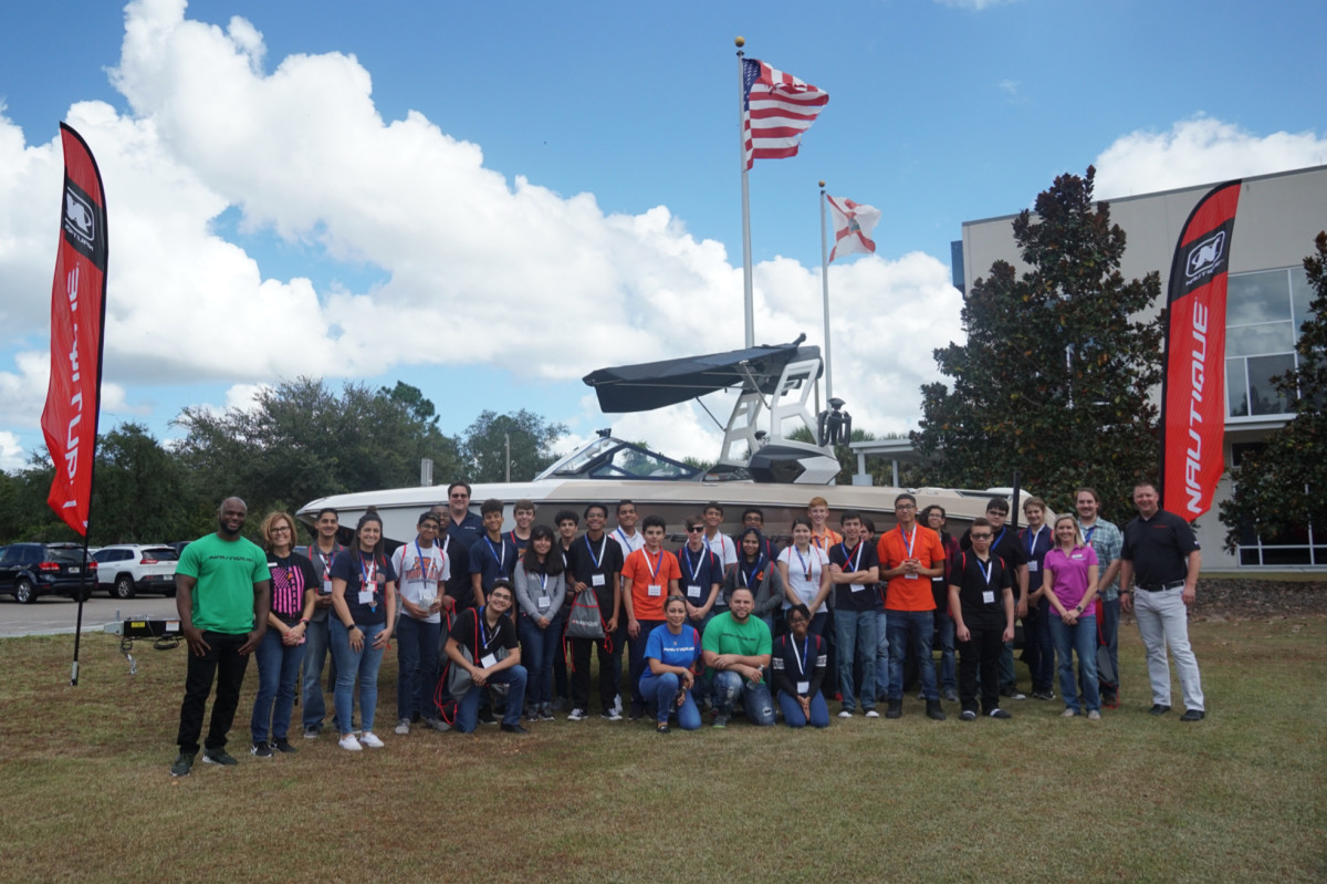 Nautique Boats showcased career opportunities to students for Manufacturing Day.