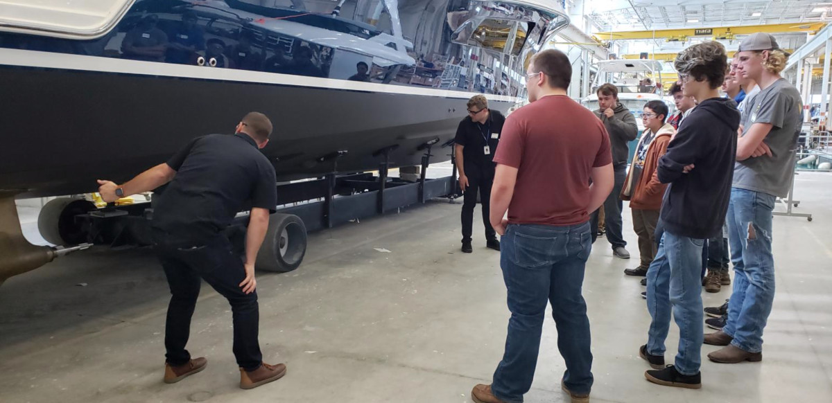 Tiara hosted students for three days in honor of Manufacturing Day.