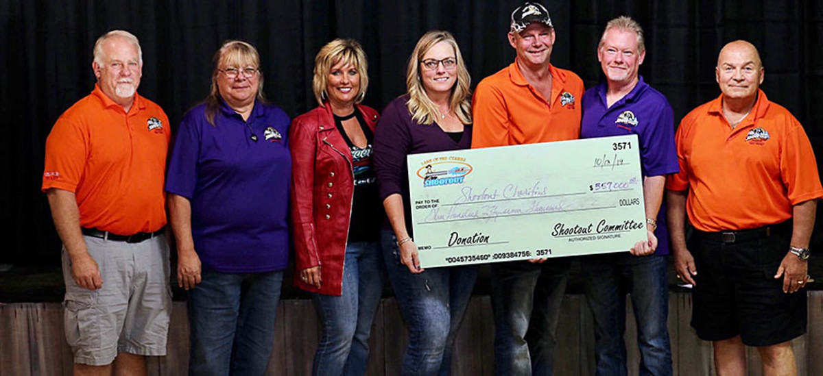 Members of the Lake of the Ozarks Shootout committee said the 31 annual event raised a record amount of donations. Photo courtesy of Lake TV.