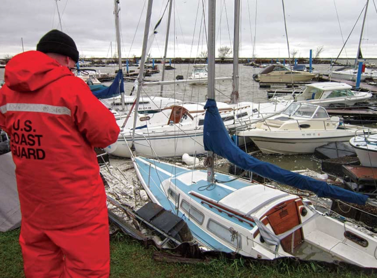 As flood zones change, the economy will likely take a hit, bank regulators warn. Photo: Coast Guard