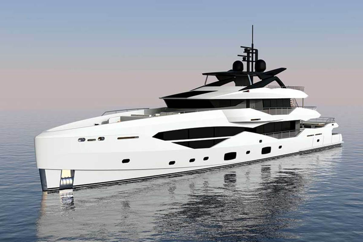Sunseeker's aggressive  growth plan includes the  recent creation of a Superyacht division, which is working on a 161 (rendering shown) and a 131, with a 133 not far off.