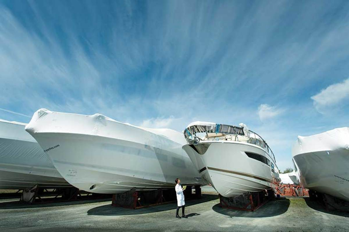 "Groupe Beneteau's technology initiatives include VR software that can ""see"" through hulls."