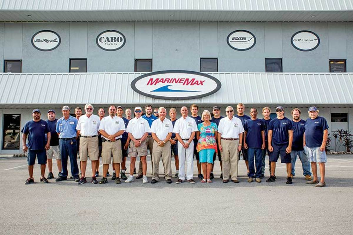 It takes a village:  The MarineMax team at its St. Petersburg, Fla., location.
