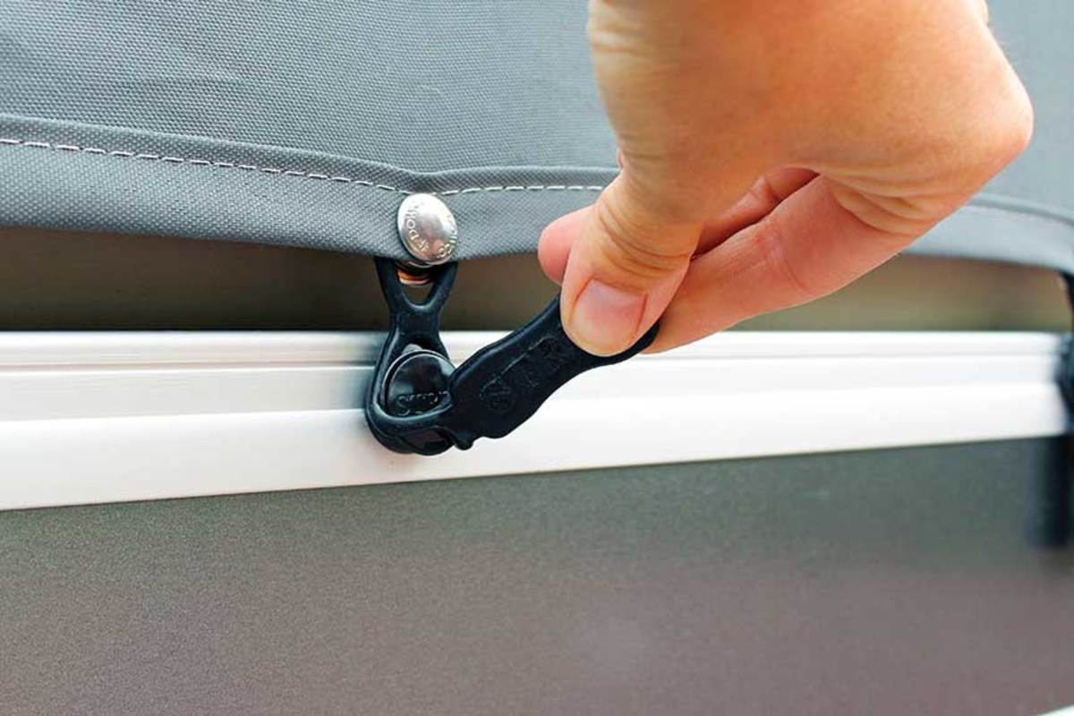 Strex Fasteners provide a real-world solution to the problem of shrinking boat covers.