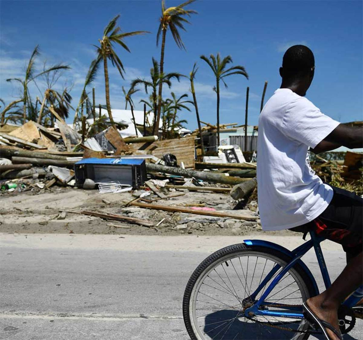 Damage remained widespread on the outer islands months after the storm.