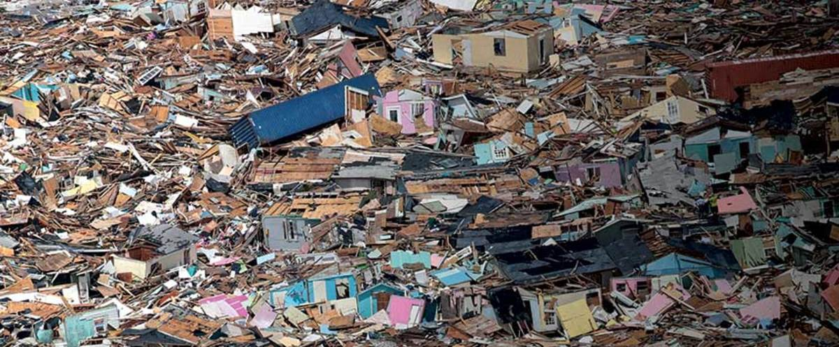 The hardest-hit areas were uninhabitable and abandoned after the storm.