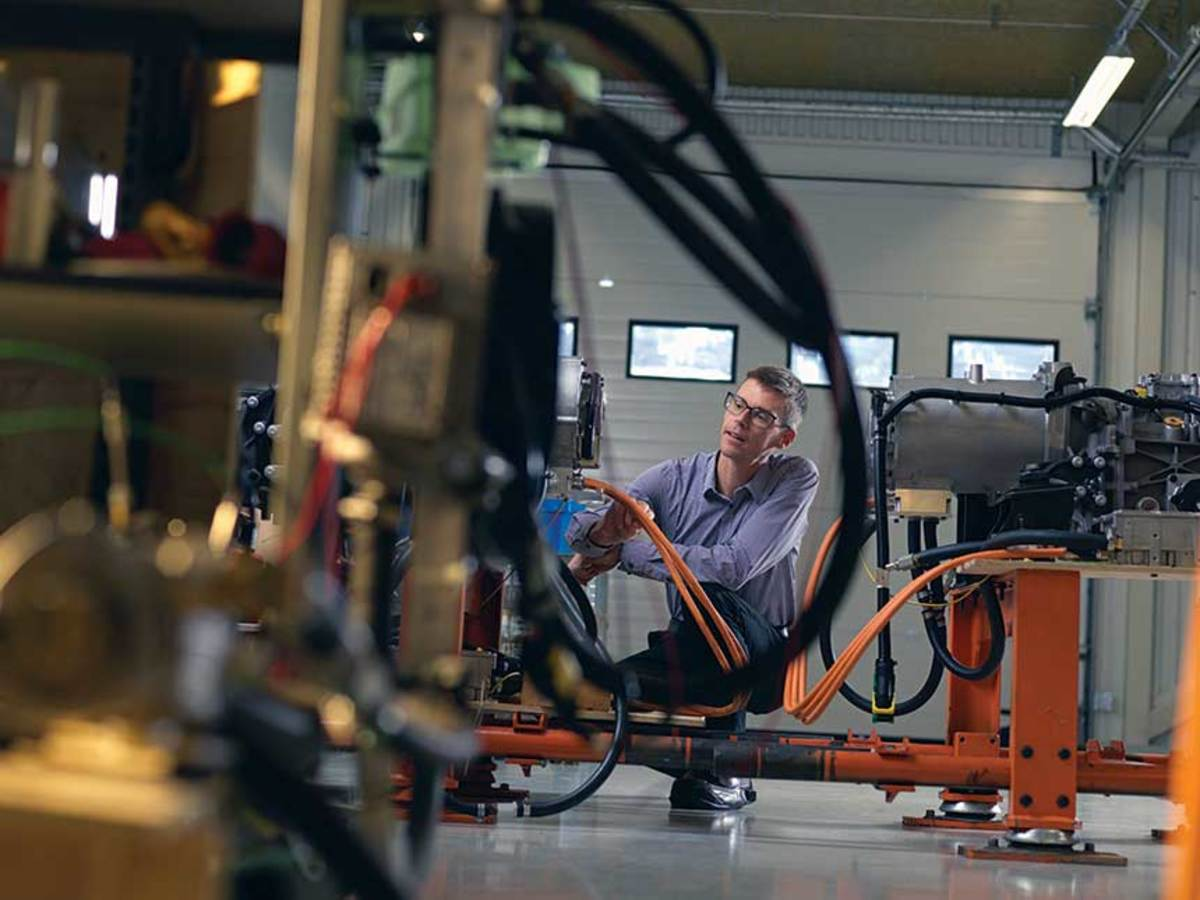 Volvo Penta established an electromobility lab as part of its commitment to electric propulsion.