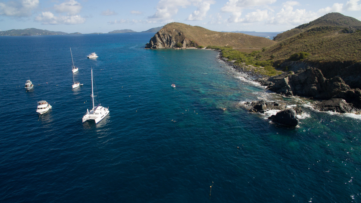 MarineMax planned an itinerary for new charter customers to explore the BVI with other first-timers.