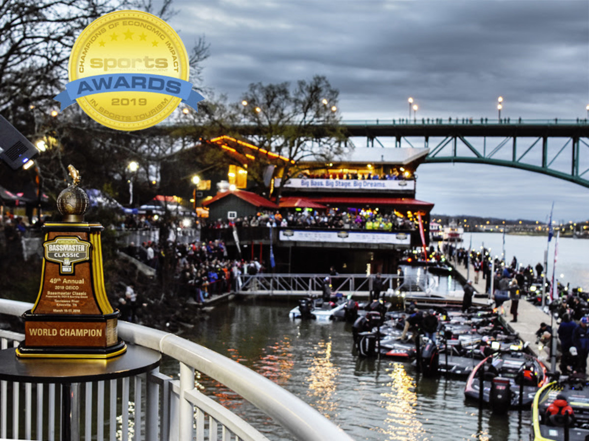 The 49th edition of the Bassmaster Classic launch from the Tennessee River in March.