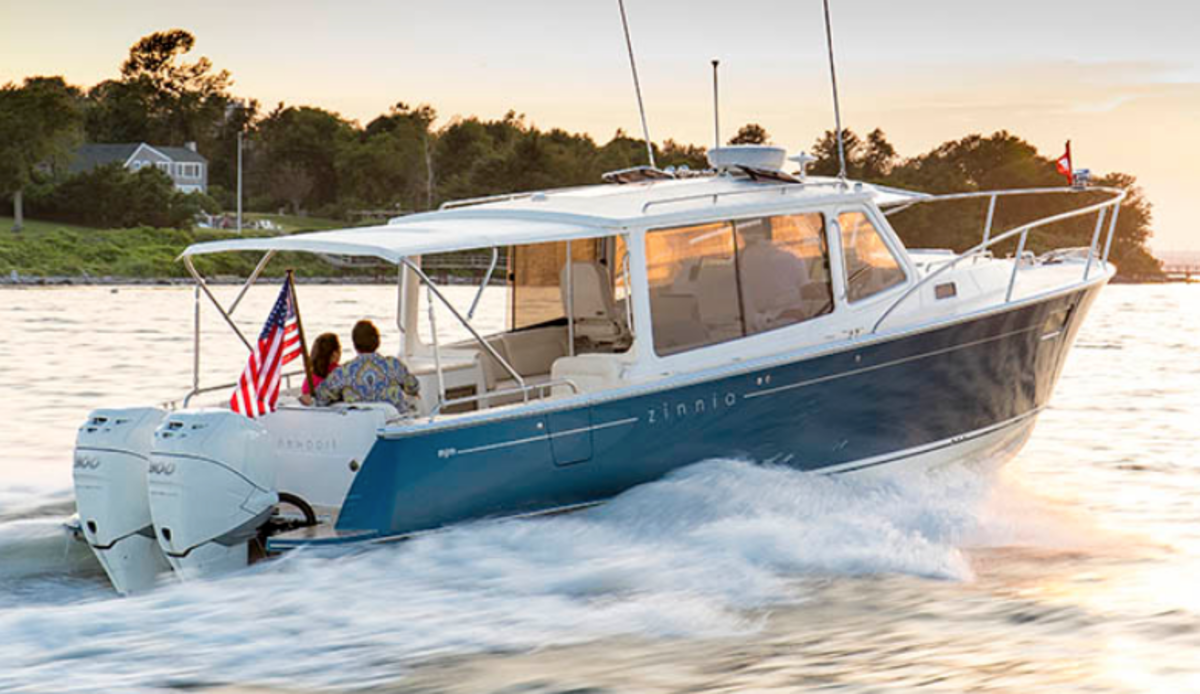 The 35z is the smallest boat in the MJM lineup and is one of the models that will be built in the new facility.