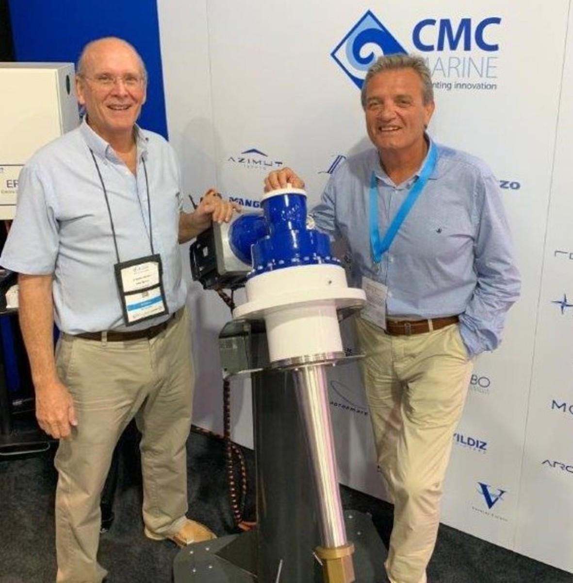 Buddy Morgan (left) new US Sales Director, with CMC CEO Alessandro Cappiello.