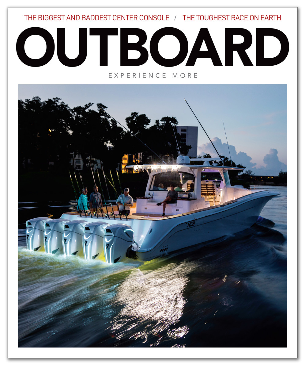 Simon Murray's award-winning story about outboard racing appeared in the debut issue of Outboard magazine.
