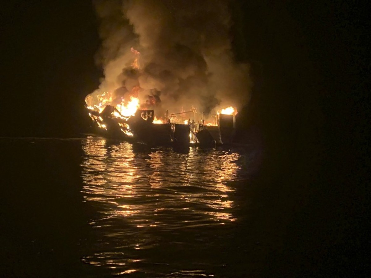 The fire on the Conception dive boat killed 34 people. Photo courtesy of the Los Angeles Times.