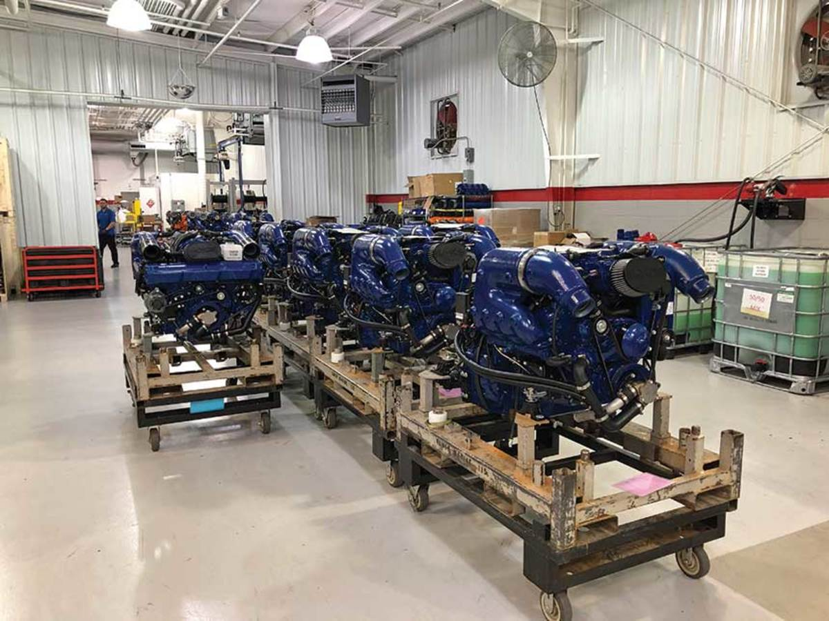 Ilmor builds inboard and sterndrive engines at its North Carolina facility.
