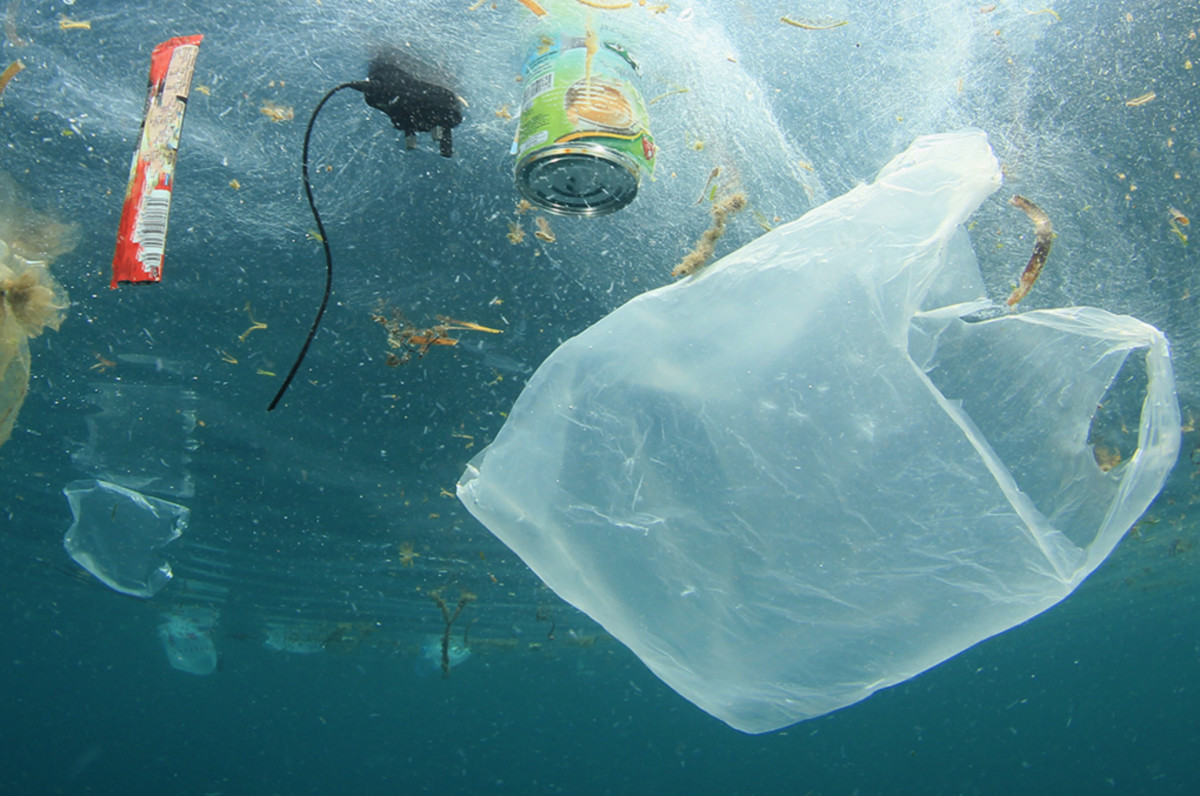 According to the United Nations, every year eight million metric tons of plastic bottles, straws, bags, fishing gear, and abandoned vessels are dumped into the ocean.