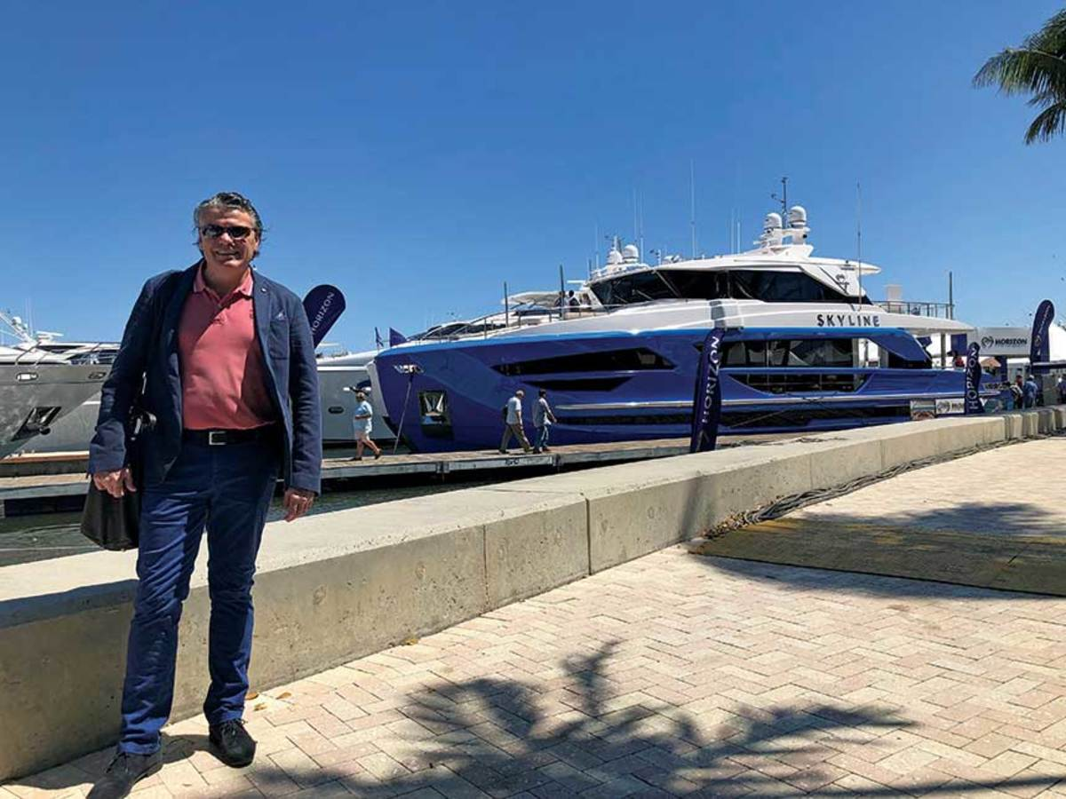 Renaissance man:  Cor D. Rover 's work ranges from 40-foot production boats to 400-foot superyachts.