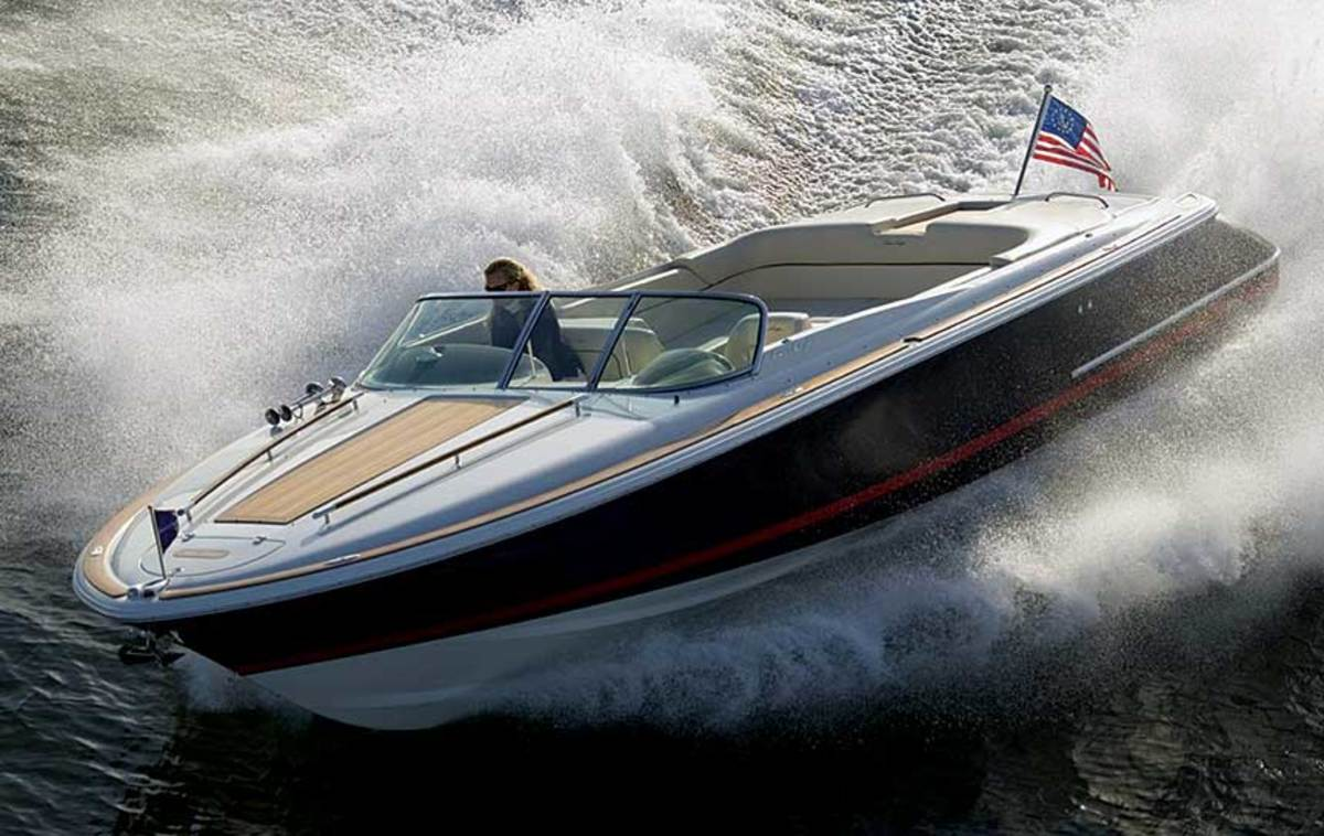 Michael Peters gave Chris-Craft a new lease on life in 2000 with a slightly retro look on a modern hull.