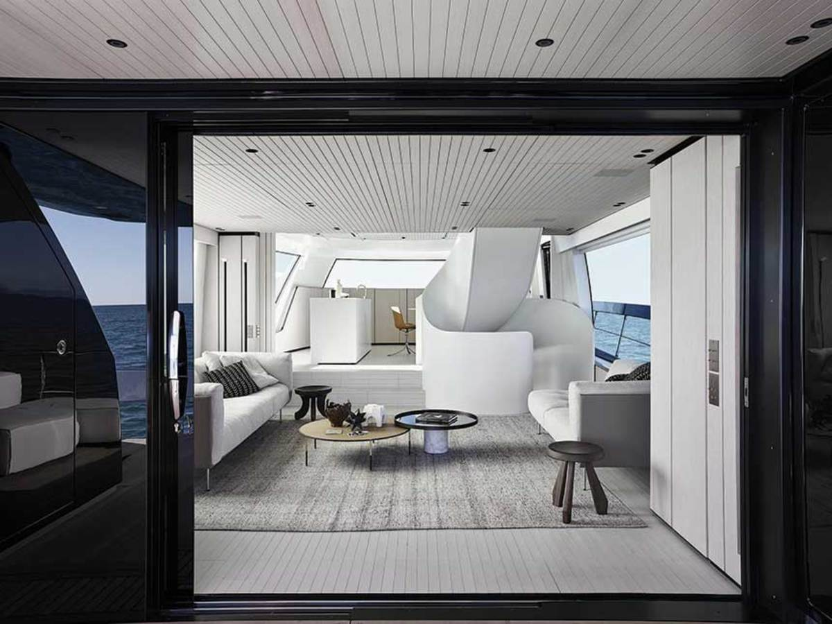 Increasingly large volumes in 65- to 85-foot yachts allow for features such as floor-to-ceiling windows, wide saloons and high ceilings.