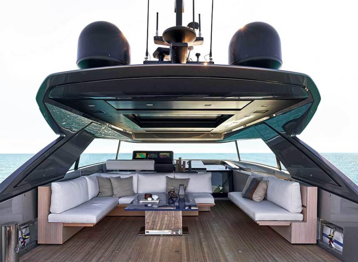 Designer Bernardo Zuccon applied superyacht design cues to the Sanlorenzo SX76.