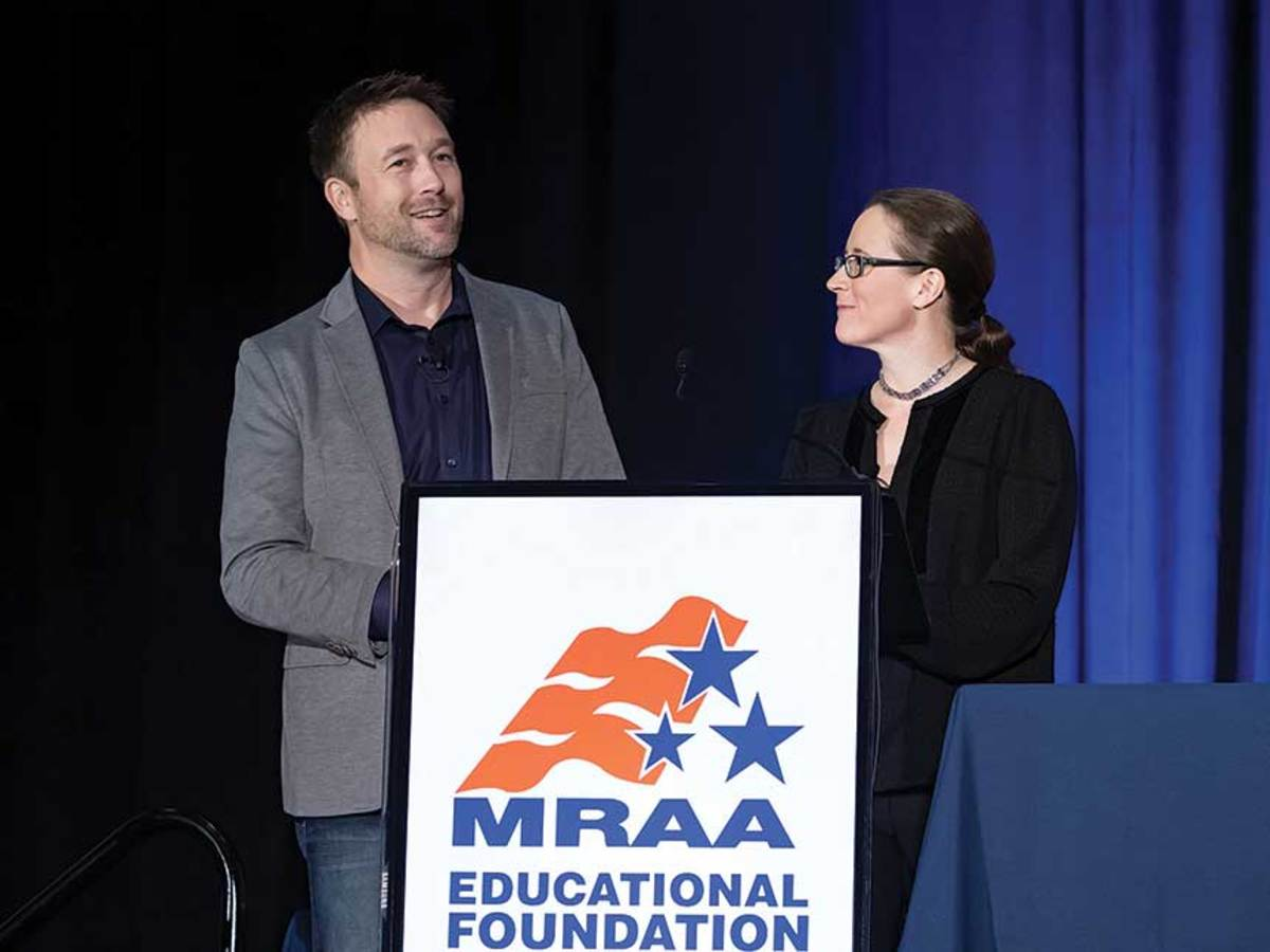 MRAA president Matt Gruhn (left) and vice president Liz Walz  are emphasizing the digital presence of the new conference, with live-streamed interviews and sessions archived on video.