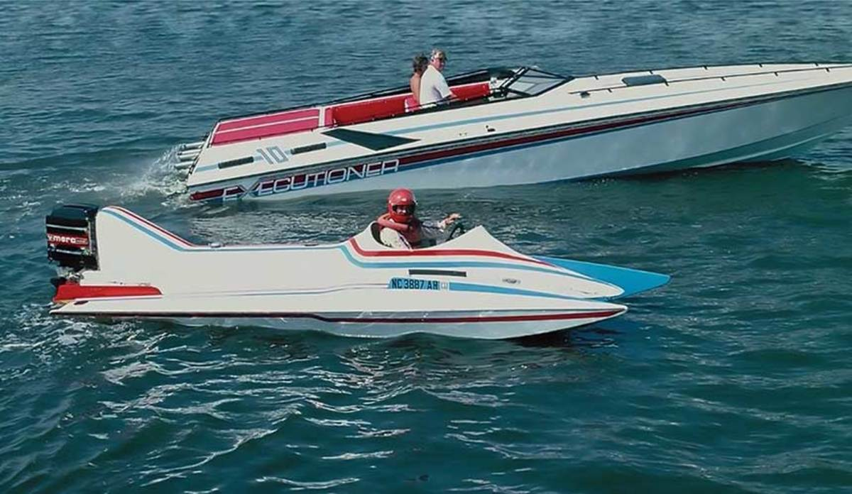 Early in his career, Fountain's  experience racing tunnel outboards gave him unique insight into what he wanted is his production boats.
