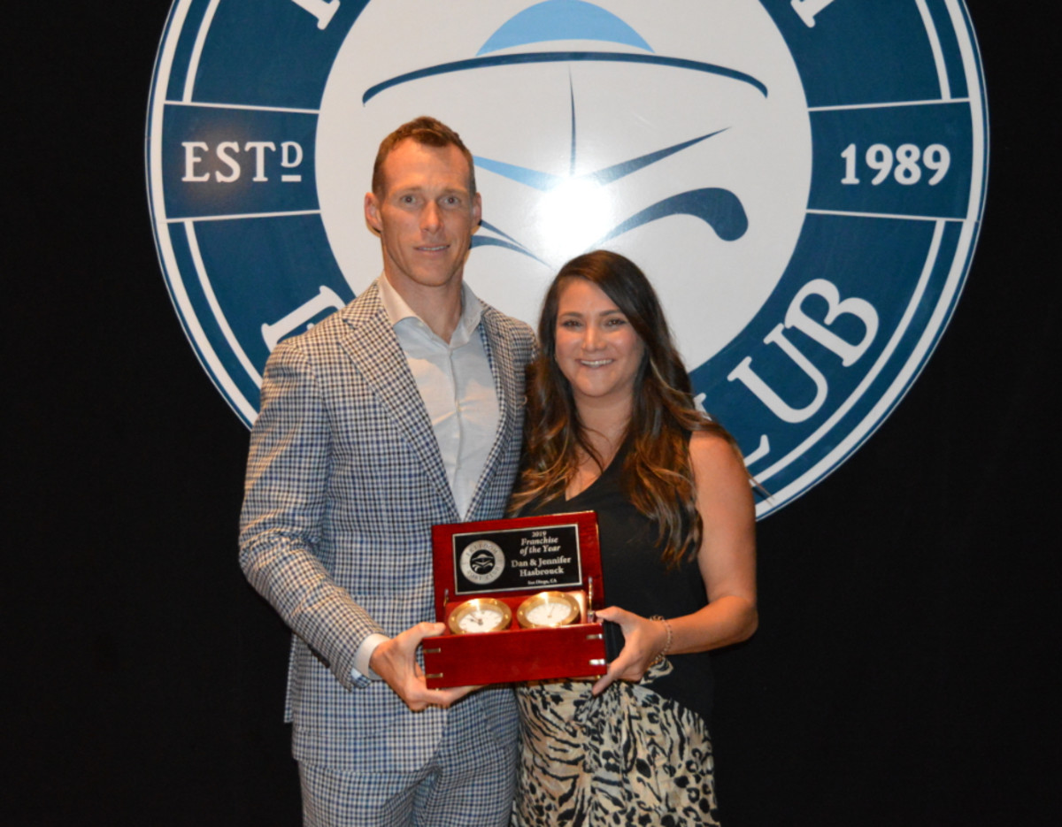 Franchise of the Year winners Dan and Jennifer Hasbrouck.