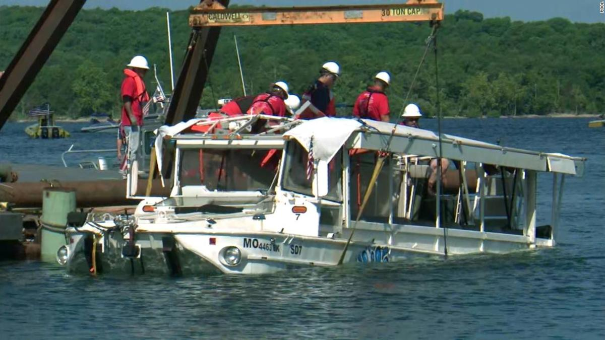 When the duck boat sunk in a thunderstorm in 2018, 17 passengers and one crewmember were killed.