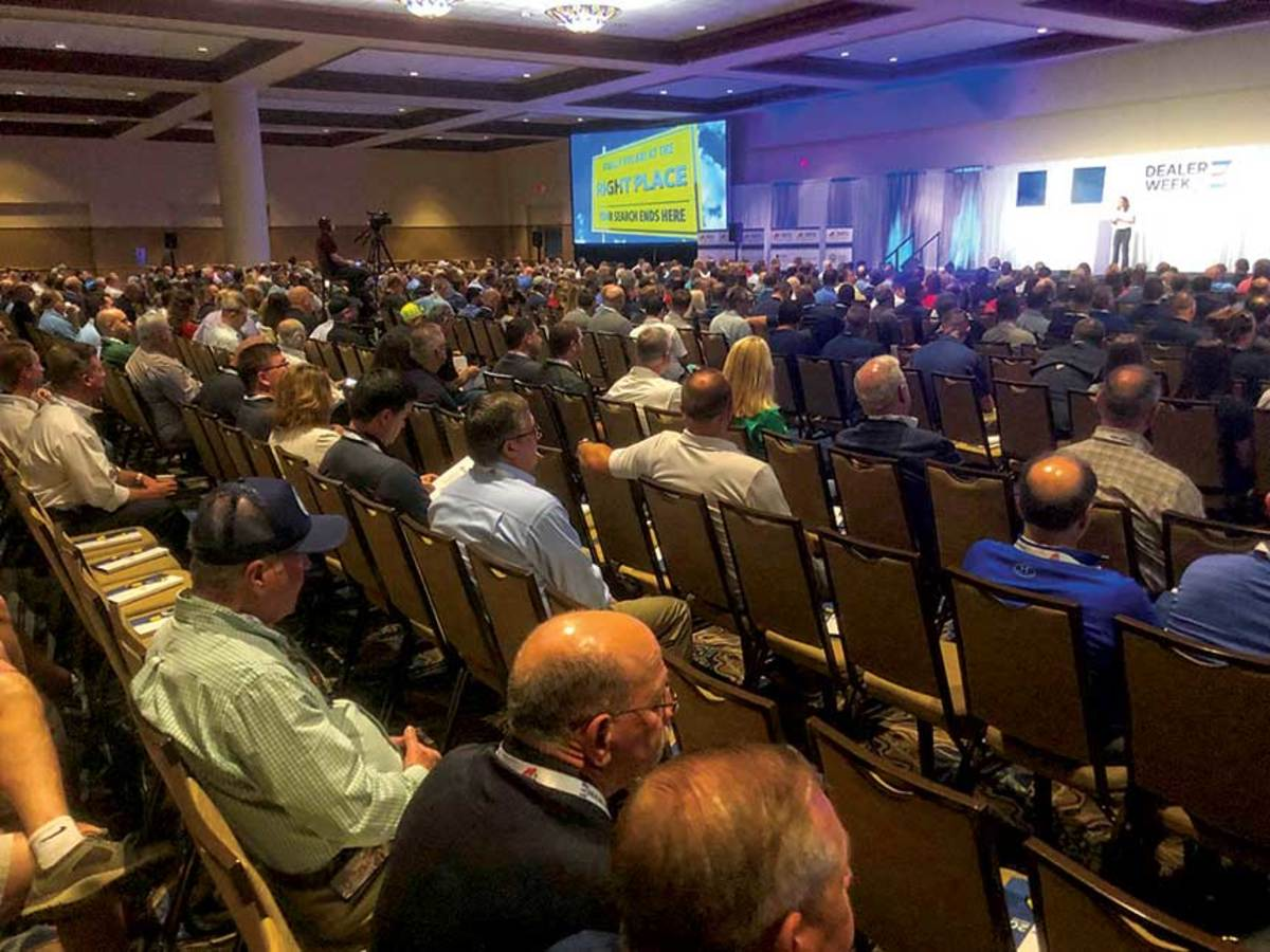 About 600 dealers attended the MRAA's new conference, which included more than 100 exhibiting companies.