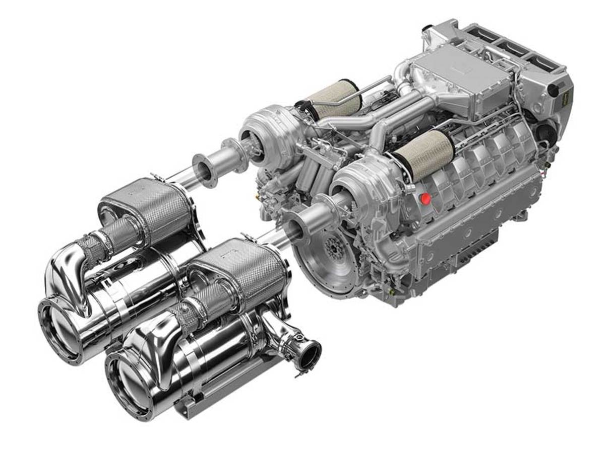 MAN's Selective Catalytic Reduction system and additional equipment will be nearly the same size as the engine with which it works.