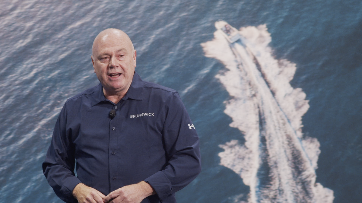 Brunswick CEO David Foulkes explains Brunswick's tech strategy at the Consumer Electronics Show.