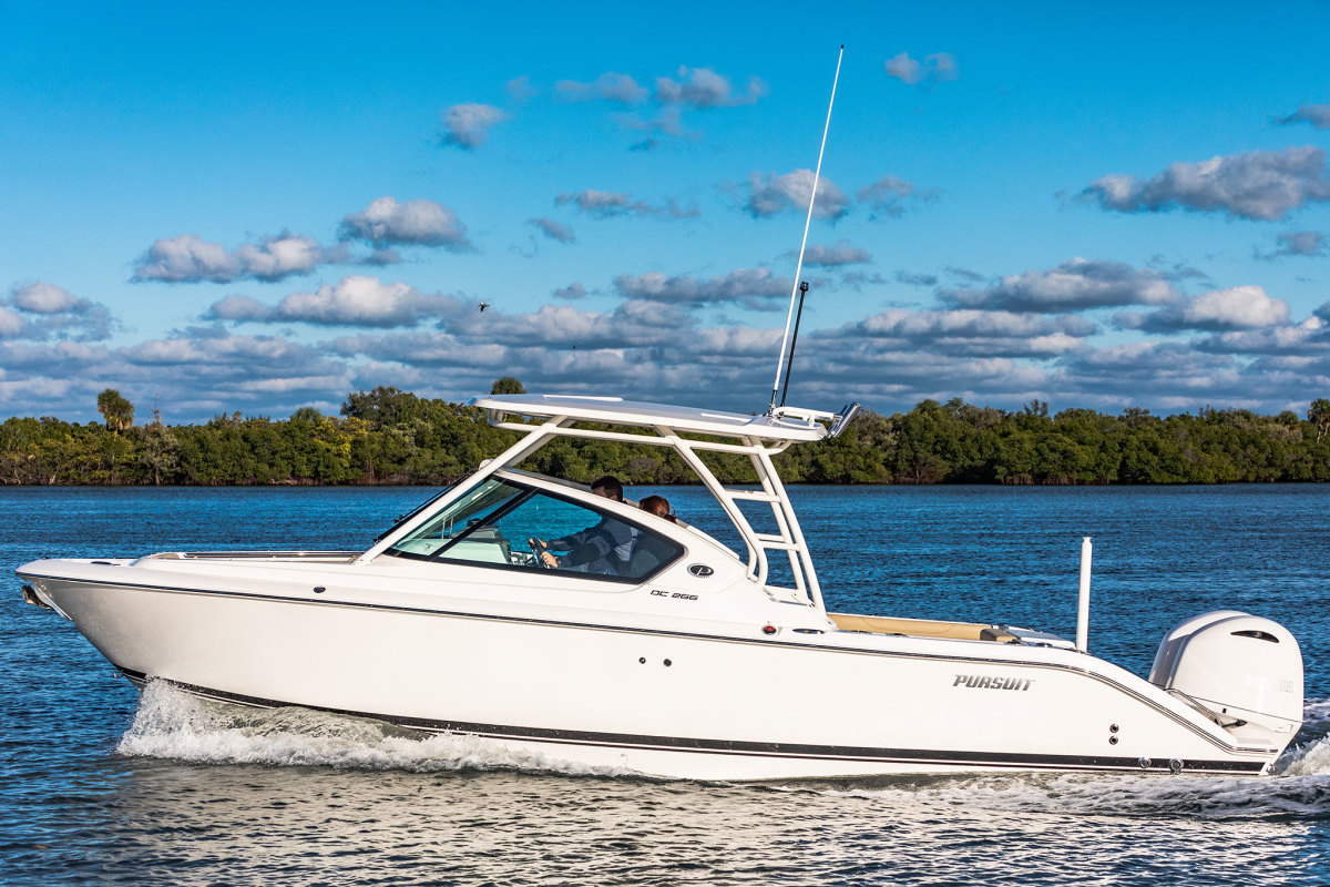 The service is targeting higher-end boats like the Pursuit DC 266.