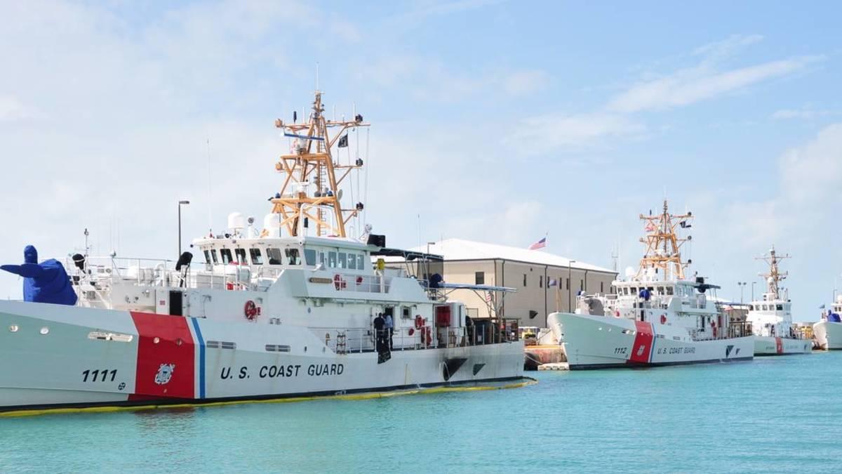 Coast Guard cutters are used to intercept smugglers along the Florida coast. Coast Guard photo
