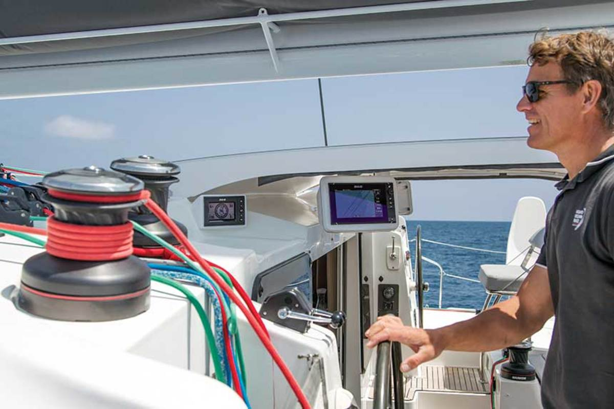 """Before joining Navico, Frostad took a sailing sabbatical with his family.  """"I saw firsthand how marine electronics are expanding and enriching the boating experience."""""""