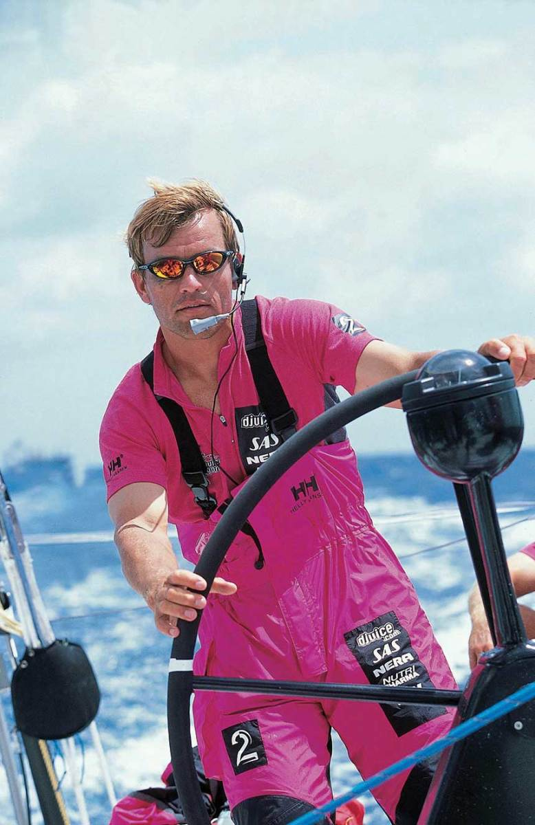 As skipper of Innovation Kværner in the 1997  Whitbread race,  Frostad learned the financial side was as important as racing.