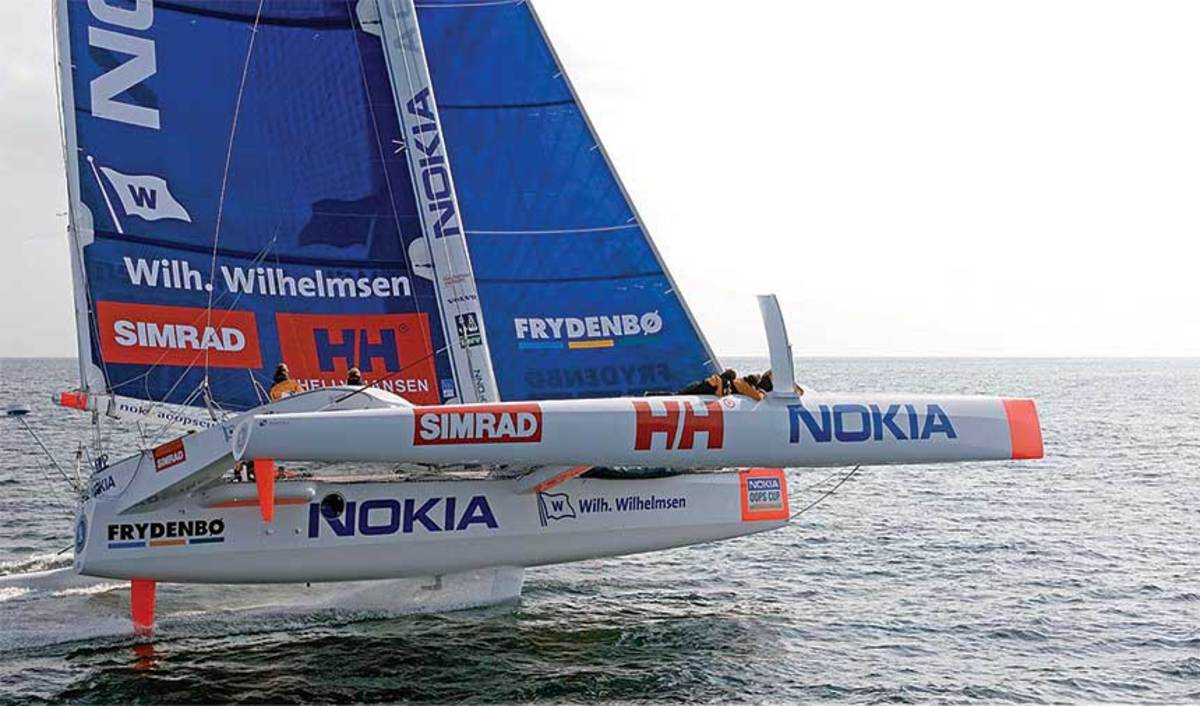 Frostad says skippering a racing sailboat is similar to running a business. Both involve constant decisions about strategy and staff management.