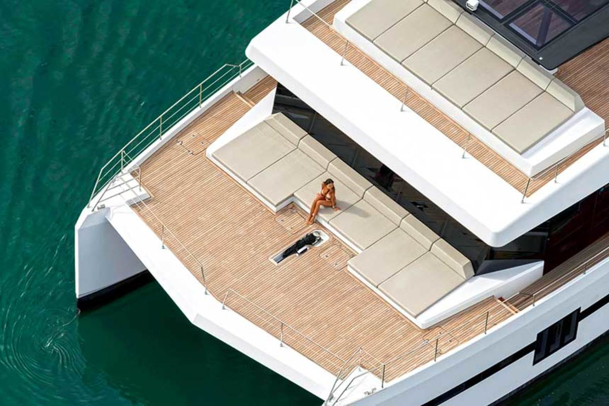 At the Cannes show, Sunreef competed for market share with France's leading multihull builders.