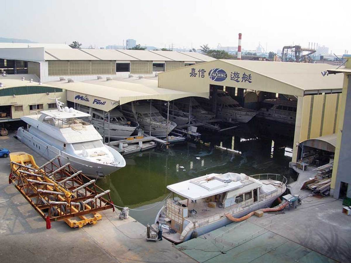 In addition to its own Monte Fino brand, Kha Shing builds boats for Belize, Hargrave, Offshore and Outback.