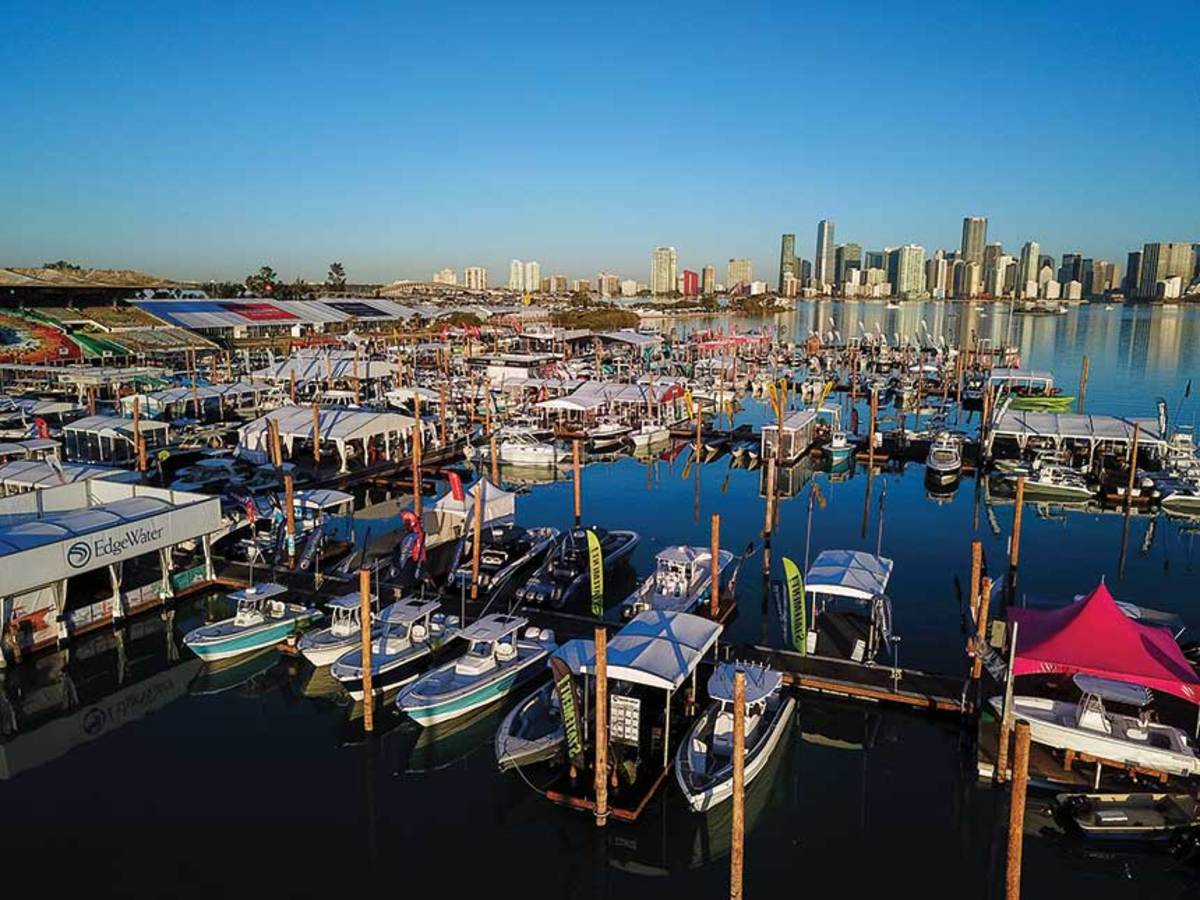 The Miami International Boat Show has matured on Virginia Key, with organizers now in a fine-tuning phase.